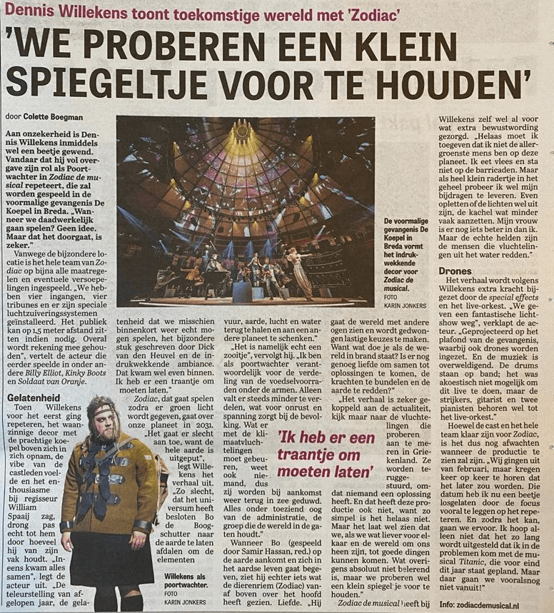 'Een klein spiegeltje voorhouden' – Dennis Willekens – Telegraaf 26-05-21